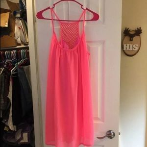 Hot Pink Bathing Suit Cover up